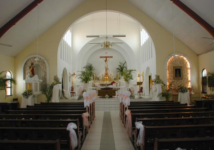 kerk van binnen gezien