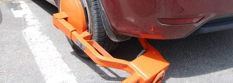 Verkeersregels van Curacao, ook hier zijn er wielklemmen
