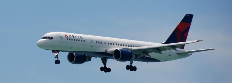 Vliegtuig van Delta Airlines