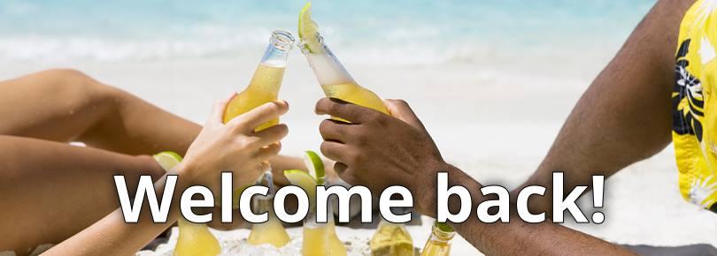 Welkom terug!