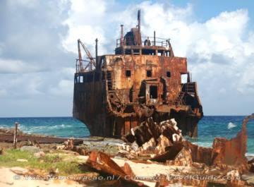 Gestrand vrachtschip